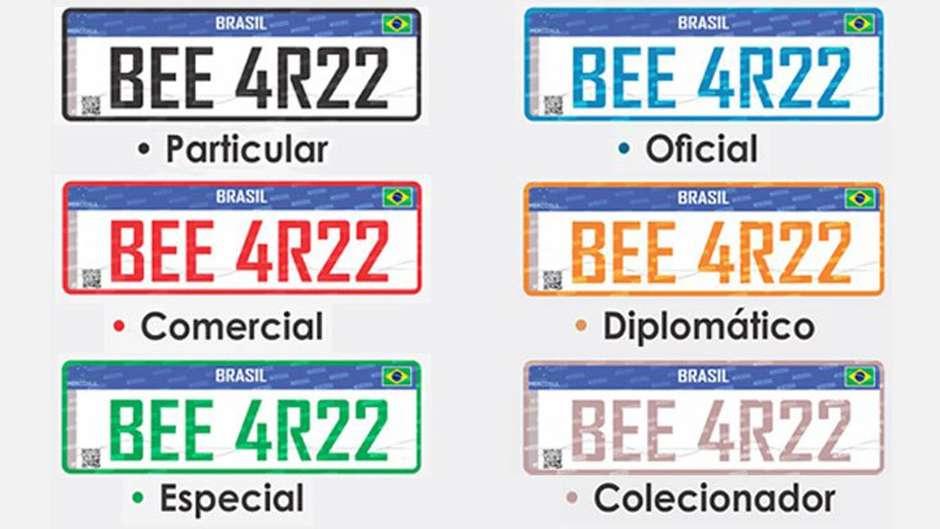 Conheça os novos modelos de placas Mercosul