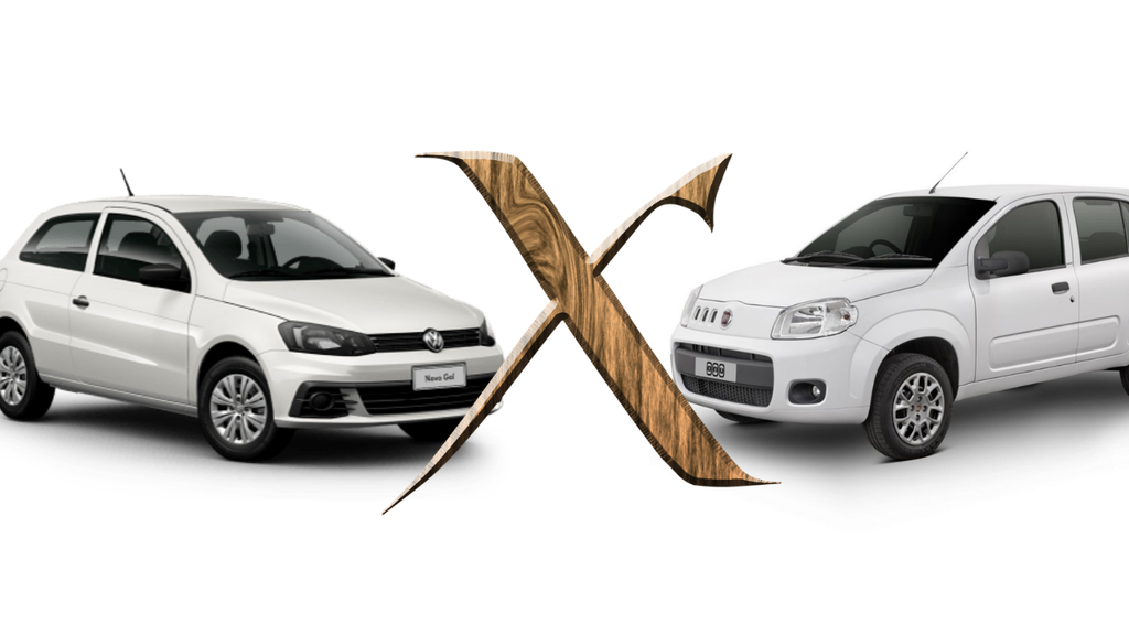 Comparativo Gol x Fiat Uno: