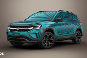 Volkswagen apresenta o novo SUV Taos com uma camuflagem vibrante