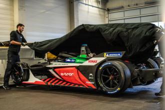 Audi e-tron FE06 a caminho da primeira etapa da Fórmula E
