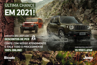 Últimas unidades com desconto do Jeep Renegade STD para PCD