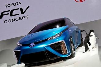 A Toyota e o FCV movido a célula de combustível